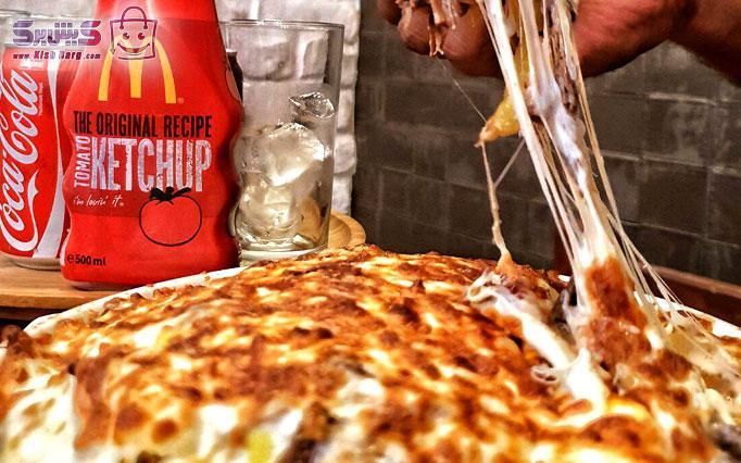 پیتزا فست فود وقت برگر