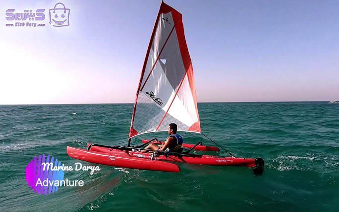 قایق بادبانی ۳ نفره HOBIE 16 کلوپ مارین دریا (۳۰ دقیقه)