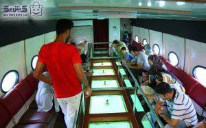 کشتی آکواریوم تفریحات کیش با قیمت
